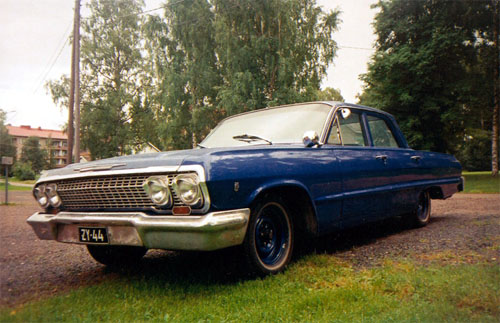 1963 Chevrolet Bel Air 4d sedan<br>305cid+TH350