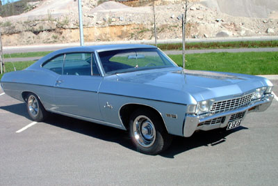 1968 Chevrolet Impala 2d HT coupe<br>305cid+TH350
