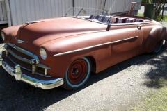 Chevrolet Styleline 1950<br>350+700<br>Muokattu runko ja kori, 1955 mittaristo